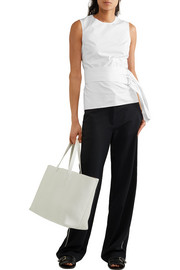 Victoria Beckham Open-back cotton-poplin top