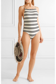 Vix Classic Drop cutout striped swimsuit