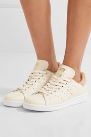adidas Originals Stan Smith suede-trimmed leather sneakers