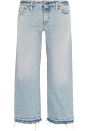Simon Miller W005 Grants cropped frayed wide-leg jeans