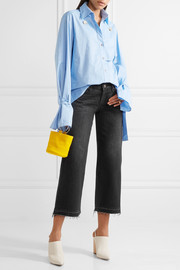 Bora cropped frayed mid-rise wide-leg jeans