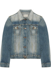 Keyes cropped distressed denim jacket