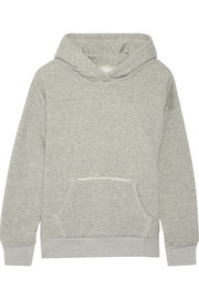 Boise French cotton-terry hooded top