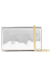 Soirée mirrored-leather shoulder bag
