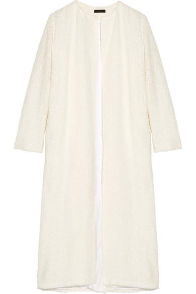 The Row - Pamie Linen-blend Bouclé Coat - Ivory