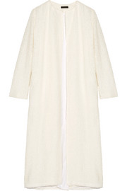 The Row Pamie linen-blend bouclé coat