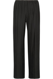 The Row Pala plissé stretch-jersey wide-leg pants