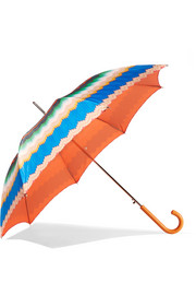 Missoni Leather-trimmed printed umbrella