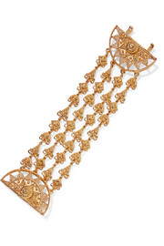 Ornate gold-tone bracelet