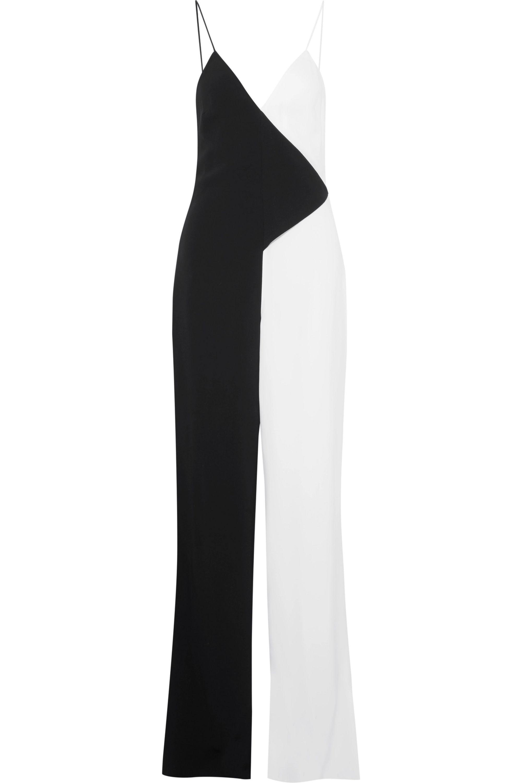 Cushnie Two-tone crepe jumpsuit