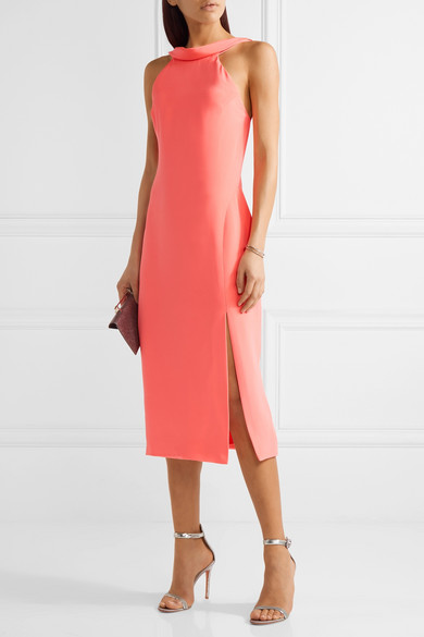 Cushnie et ochs anna cutout silk crepe midi dress net for Net a porter