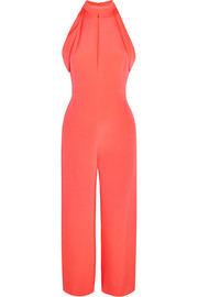 Lauren cutout silk jumpsuit