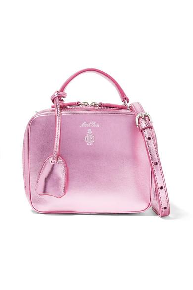 Baby Laura Metallic Textured-leather Shoulder Bag - Pink Mark Cross VpwG4A
