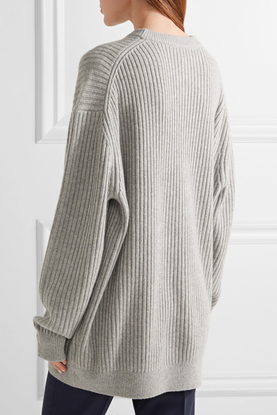 Michael Kors Collection | Oversized ribbed cashmere sweater | NET ...