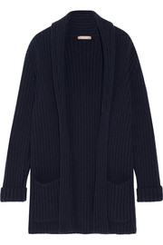 Michael Kors Collection Oversized ribbed cashmere cardigan