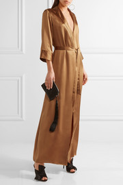 Reformation Silk wrap maxi dress