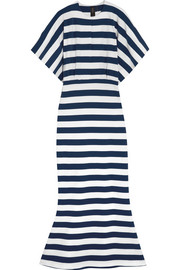 Obie striped stretch-cotton jersey maxi dress