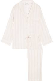 Sleepy Jones Marina striped silk-charmeuse pajama set