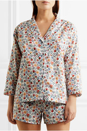 Marina and Paloma floral-print cotton pajama set