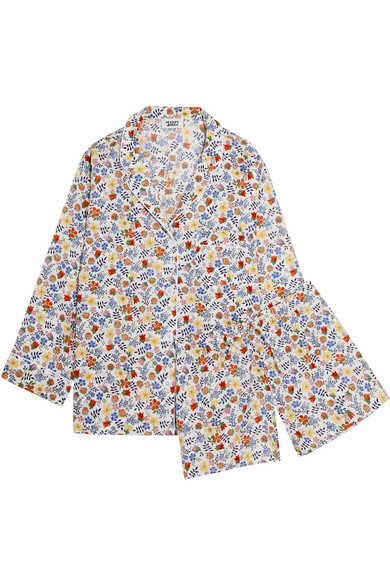 Sleepy Jones - Marina And Paloma Floral-print Cotton Pajama Set - White