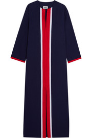 Germaine grosgrain-trimmed cotton kaftan