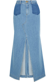 SEA Denim maxi skirt