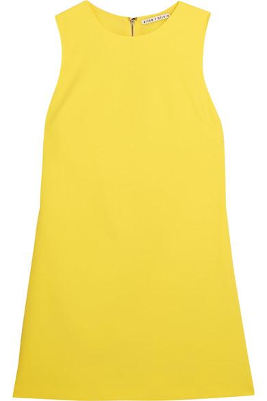 Alice Olivia - Coley Crepe Mini Dress - Yellow