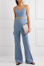 Alice + Olivia Cristal chambray jumpsuit
