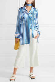 Alice + Olivia Benny cropped crepe wide-leg pants