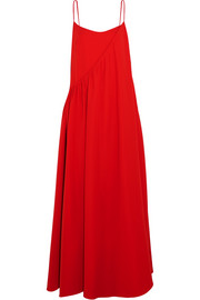 Layered crepe gown