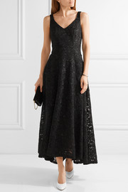Asymmetric lace gown