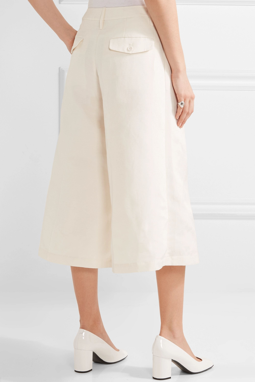 Co Cropped silk, linen and cotton-blend faille wide-leg pants