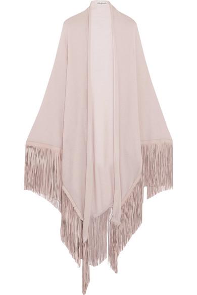 Babjades - Fringed Cashmere Wrap - Pastel pink