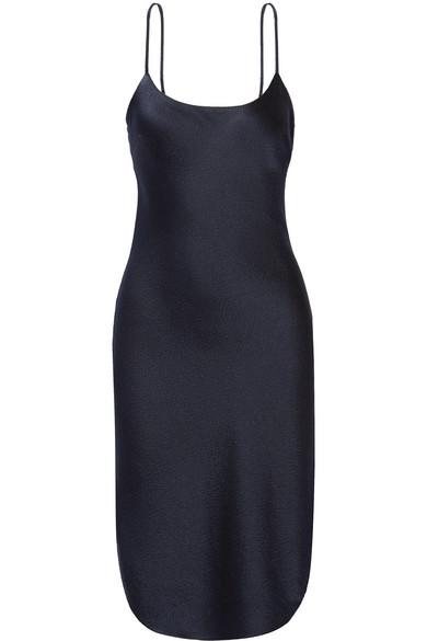 Maiyet - Arc Hammered Silk-satin Dress - Midnight blue