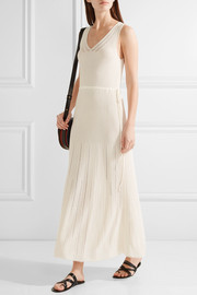 Maiyet Pointelle-trimmed ribbed stretch-knit maxi dress