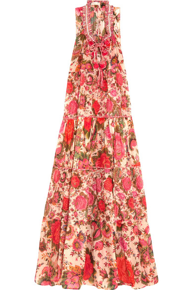 Anjuna - Clotilde Printed Cotton Maxi Dress - Pink