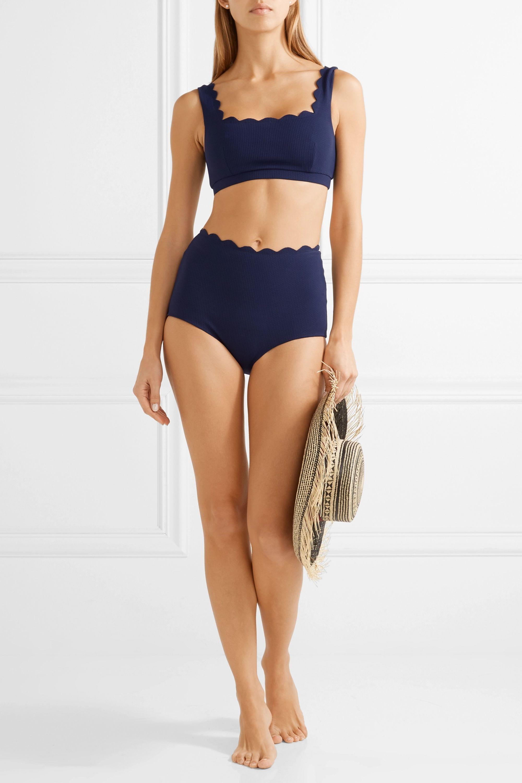 Marysia Palm Springs scalloped bikini top
