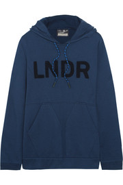 College appliquéd cotton-blend jersey hooded top