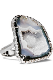 Kimberly McDonald 18-karat white gold, geode and diamond ring