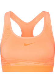 Nike Pro Hyper mesh-trimmed Dri-FIT stretch-jersey sports bra