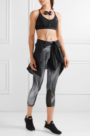 Power Epic Run mesh-trimmed printed stretch leggings