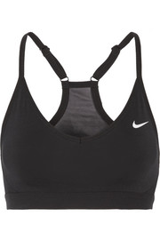 Nike Pro Indy mesh-trimmed Dri-FIT stretch sports bra