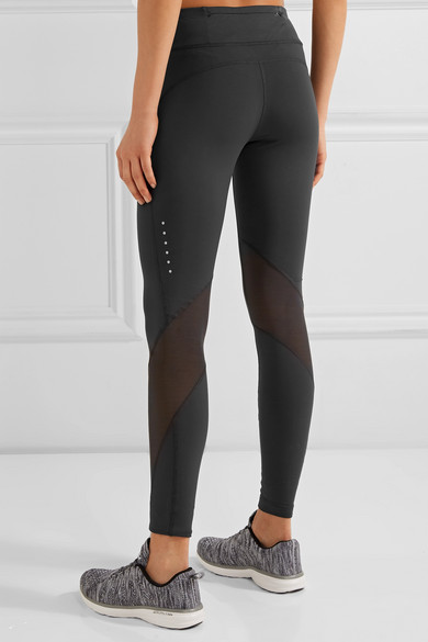 63c243709e2e01 Nike | Power Epic Lux mesh-paneled Dri-FIT stretch leggings | NET-A ...