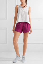 Dry Tempo mesh-trimmed printed shell shorts