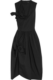 Simone Rocha Bow-embellished cotton-poplin midi dress