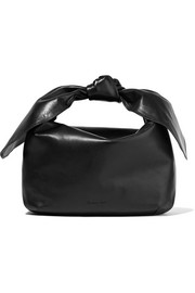 Knotted leather tote