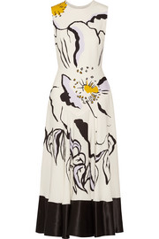 Camillo printed silk-crepe midi dress
