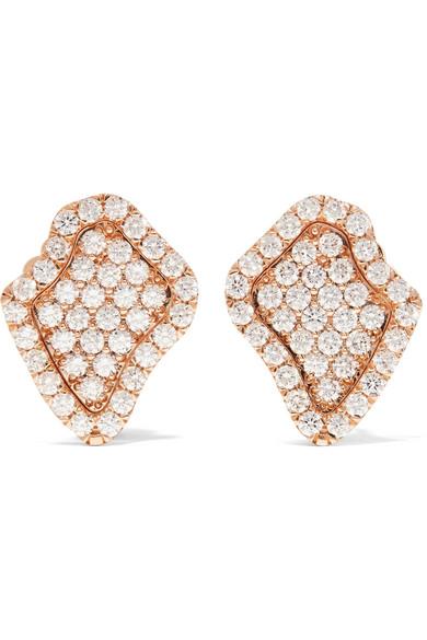 Kimberly McDonald - 18-karat Rose Gold Diamond Earrings