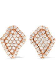 Kimberly McDonald 18-karat rose gold diamond earrings