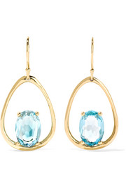 Rock Candy 18-karat gold topaz earrings